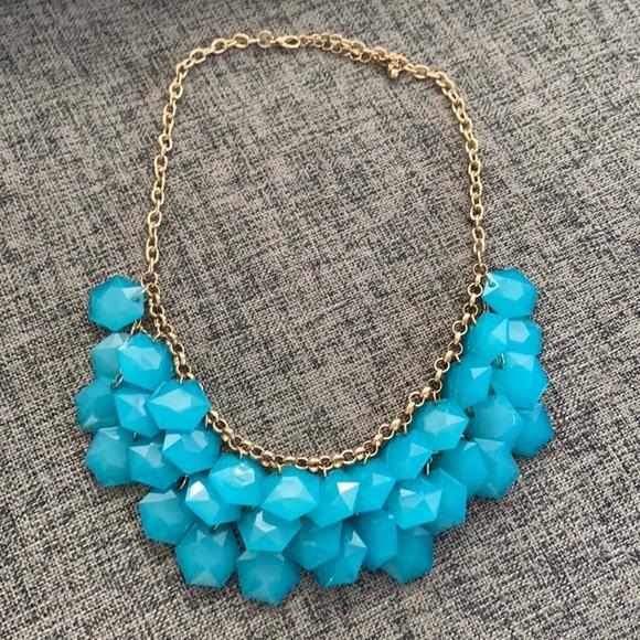 Vintage Cool Blue Statement Necklace